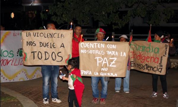 Quilichagueños unidos en la Velatón