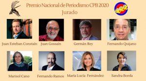 Connotados periodistas integran el jurado del Premio CPB