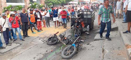 En el día de las velitas, explota motobomba en Miranda