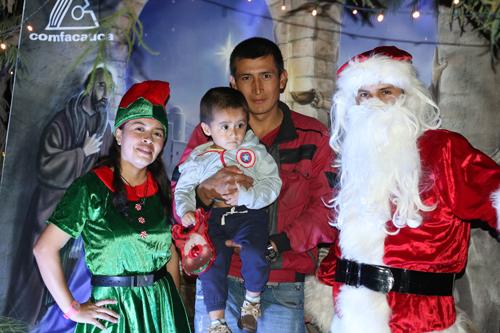 Inició la novena navideña en la villa encantada de Santa