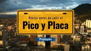 Pico y Placa en Popayán a partir de 14 de enero