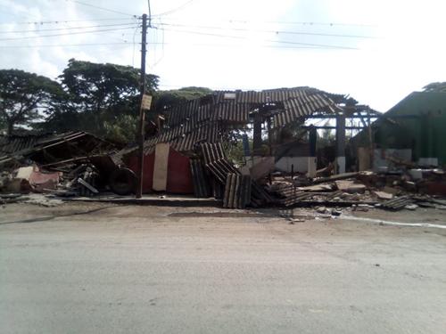 En plena cuarentena demolieron matadero de Puerto Tejada