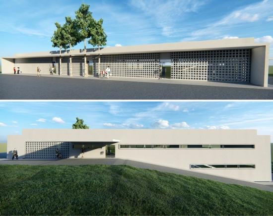 Muestra de la fachada del Nuevo Hospital para Miranda, Cauca.