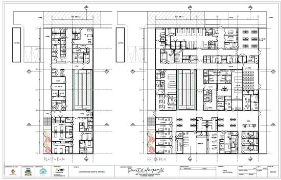Planos del Nuevo Hospital para el Municipio de Miranda, Cauca.