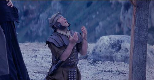 Longinos traspasó con su lanza a Jesús y después fue santo de la iglesia