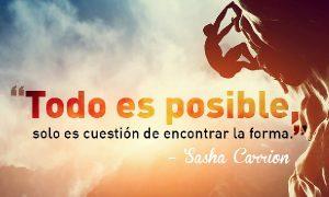Todo en la vida es posible