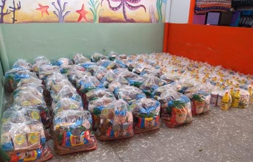 Ayudas a familias de Atención Integral a la Niñez Comfacauca.