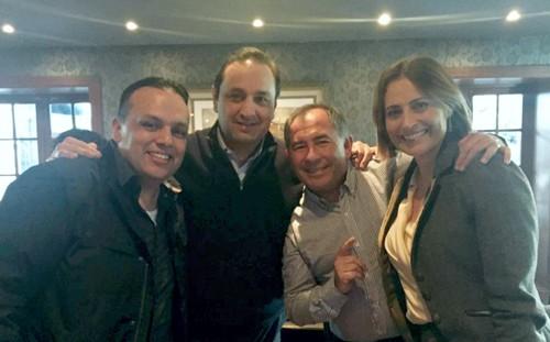 Con los presentadores del Canal Caracol