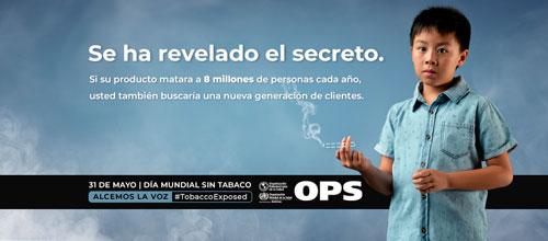OPS insta a resistir engaño de industria tabacalera