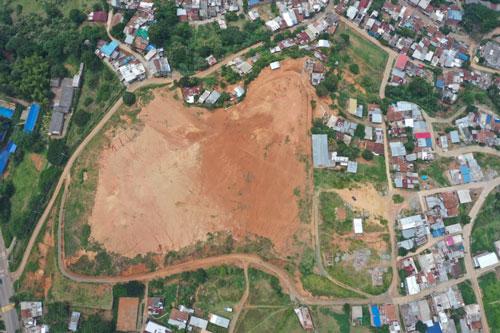 Montaña en Santander de Quilichao presenta riesgo de derrumbe