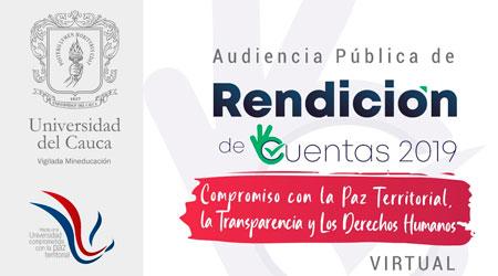 Rendición de Cuentas Universidad del Cauca