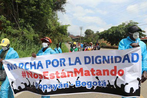 Avanza hacia Bogotá la Marcha por la dignidad