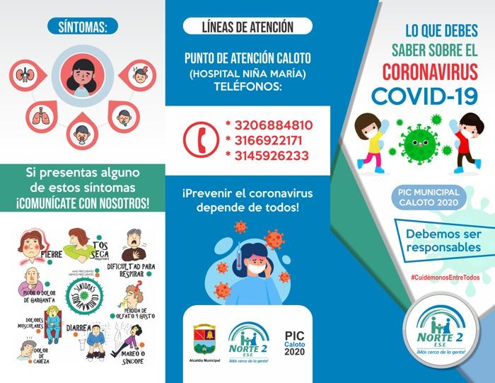 Caloteños ¡Prevenir el coronavirus está en sus manos!
