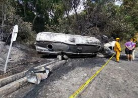 Accidente de camión cisterna en Cauca
