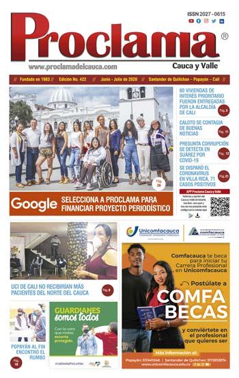En circulación edición impresa No. 423 Proclama del Cauca y Valle