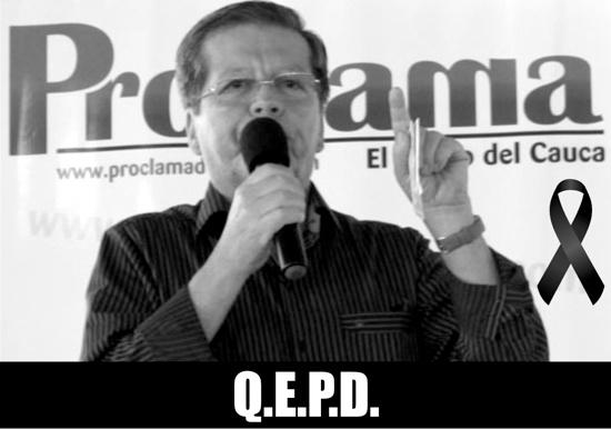 Falleció Jorge Muñoz Fernández (Mateo Malahora) en Popayán