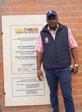 Oliver Carabalí Banguero, gerente del Instituto Departamental de Deportes del Cauca