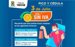 Popayán se alista para el segundo día sin IVA