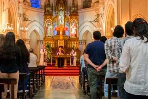 Sólo 50 personas asistirían a misas en sitios no Covid19