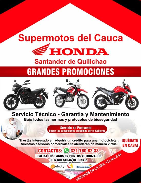 Supermotos del Cauca / Honda / Santander de Quilichao
