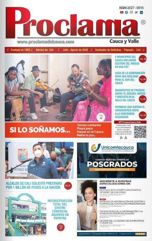 Edición Impresa No. 424 de Proclama del Cauca y Valle
