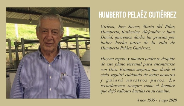 Falleció en Cali el excongresista Humberto Peláez