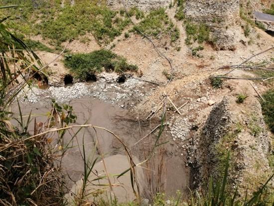 Imágenes exclusivas del derrumbe de una mina en San Antonio donde falleció menor de edad
