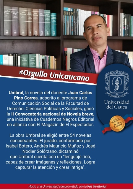 Así destacó la noticia la Universidad del Cauca.
