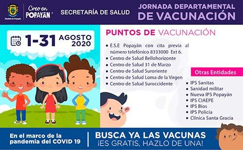 Todos a ponerse al día con la Jornada Departamental de Vacunación