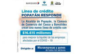Nueva línea de crédito para empresarios de Popayán