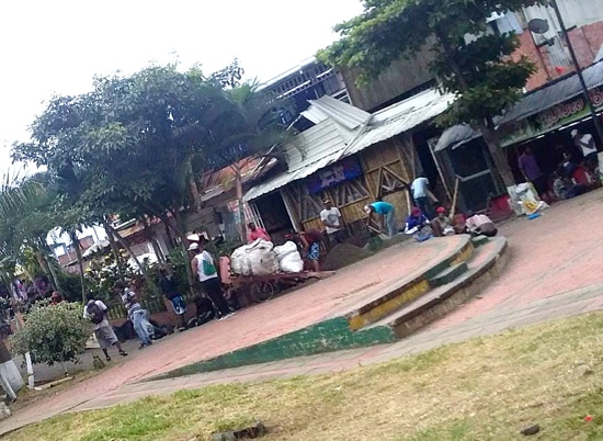 Alerta de inseguridad en Quilichao - Plazoleta Centro Comercial La Estación.