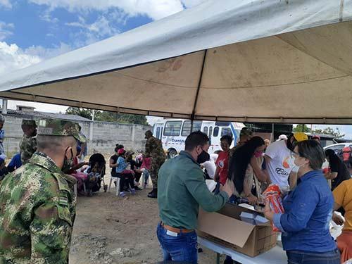 Jornada de ayuda humanitaria a migrantes en Popayán