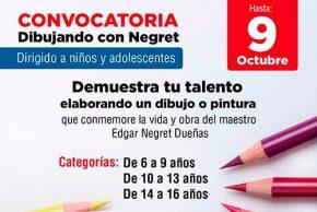 Convocatoria para niños y adolescentes Dibujando con Negret
