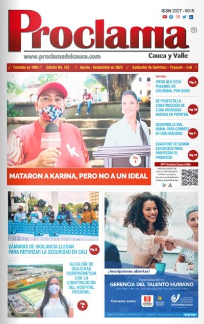 Lee la Edición Impresa No. 425 de Proclama del Cauca.