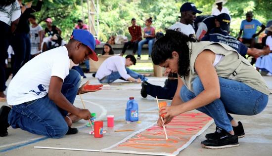 EmpoderArte Por La Paz - Fundación PLAN - Municipios de Buenos Aires y Suárez, Cauca.