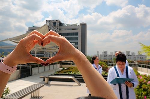 Si quiere un buen corazón, respire bien, sea positivo y agradecido