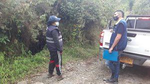 Evaluación de daños y pérdidas por las fuertes lluvias en veredas de Popayán