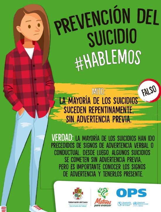 Prevención del Suicidio #Hablemos - Secretaría de Salud del Cauca