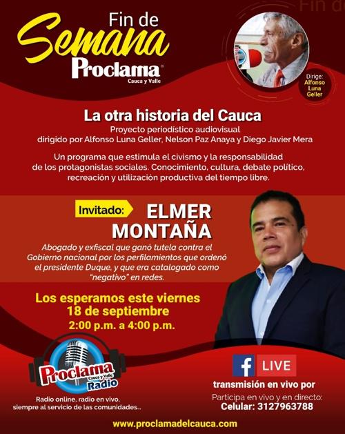 Programa Radial Fin de Semana Proclama - Dirige Alfonso Luna Geller.
