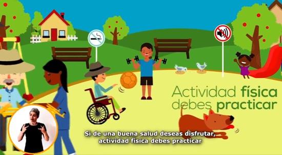 Si de buena salud quieres gozar, actividad física debes practicar