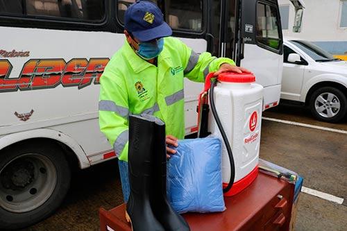 Secretaría de Tránsito de Popayán le cumple a los transportadores con kits de bioseguridad