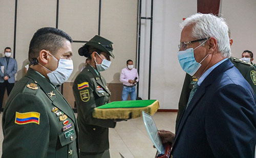 Transmisión de Mando de comandante de la Policía Metropolitana de Popayán