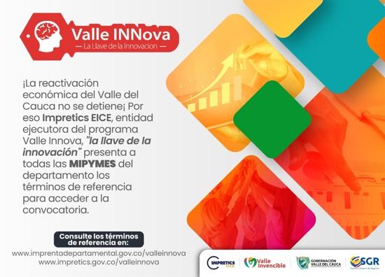 Valle Innova para su reactivación económica