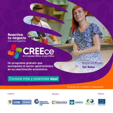 Reactiva tu negocio con el programa CREEce - Programa de crecimiento empresarial.