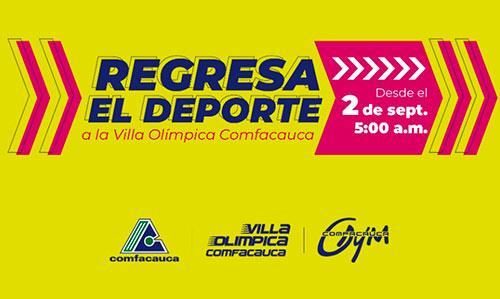 Regresa el deporte a la Villa Olímpica Comfacauca