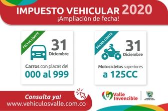 Ampliación de Plazo para Pago del Impuesto Vehicular en el Valle del Cauca