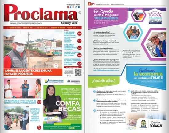 En circulación Edición Impresa #426 de Proclama del Cauca y Valle