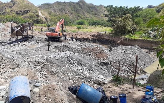 Golpe contra la minería ilegal en Bolívar, Cauca