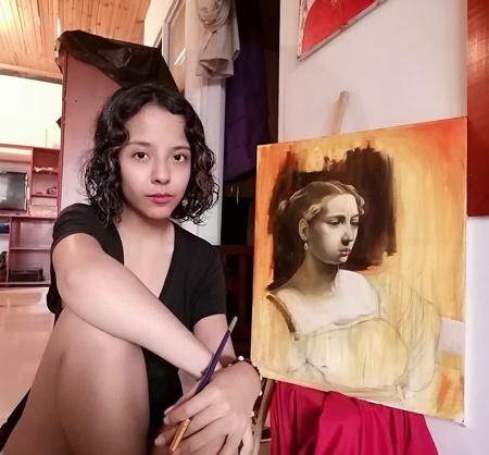 Isabella Ortega, artista quilichagüeña