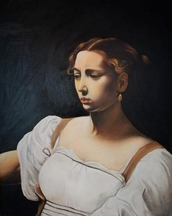 Judith de Judith decapitando a Holofernes, elaborado por Isabella Ortega